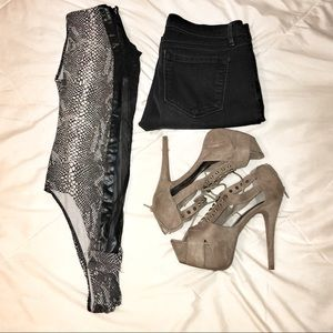 Shoes - Faux Suede Heels